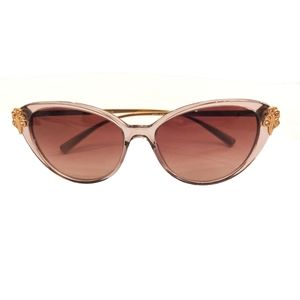 Versace Transparent Cat Eye Sunnies- New with Tags